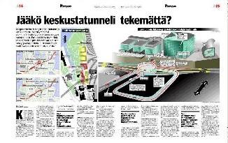 Helsingin keskustatunneli Kauppalehti 9.3.2005